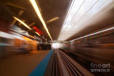 Train Station In Motion Original by Sven Brogren