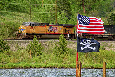 Train Photograph - Train The Flags by James BO  Insogna
