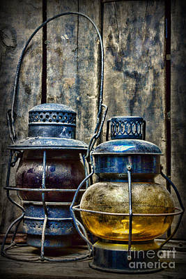 Train - The Railroad Lantern Print by Paul Ward