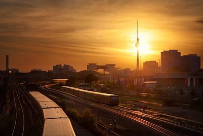 Trains - Berlin Print by Nico Trinkhaus