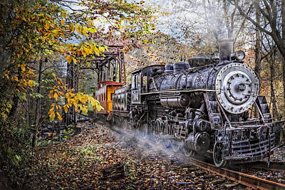 Smokey Mountain Drive Photograph - Train's Coming by Debra and Dave Vanderlaan
