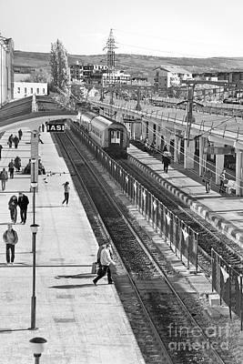Trainstation Print by Gabriela Insuratelu
