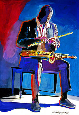 Saxophone Painting - Trane - John Coltrane by David Lloyd Glover