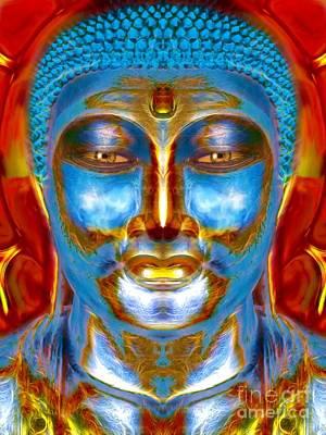 Statue Portrait Digital Art - Tranquil Buddha by Khalil Houri