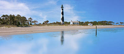 Tranquil Day Cape Lookout Lighthouse Print by Betsy Knapp