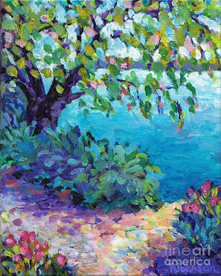 Juxtapose Painting - Tranquil Moment by Peggy Johnson