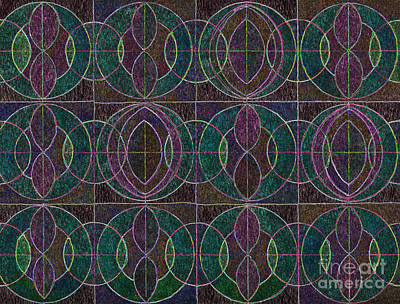 Tranquil Pattern Print by Norma Appleton
