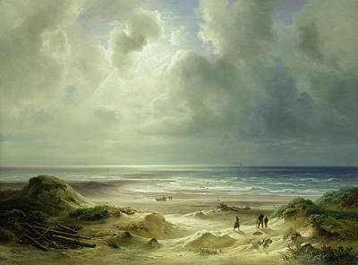 Cloudy Painting - Tranquil Sea by Carl Morgenstern