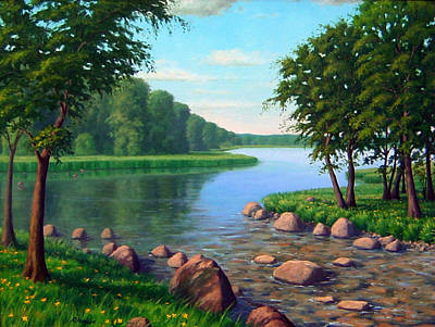 Landscape-like Art Painting - Tranquil Waters by Rick Hansen