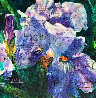 Mixed Media - Tranquility - Iris by Trish McKinney
