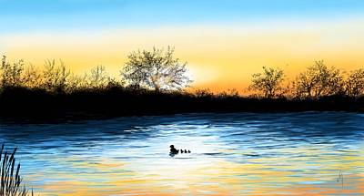 Digital Painting - Tranquility by Veronica Minozzi