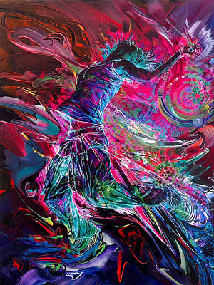 Intergalactic Painting - Transcend-glowing From The Inside Out by Susan Card