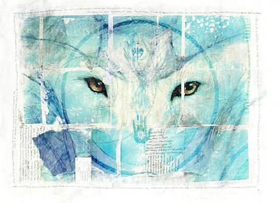 Encaustic Painting - Transcend by Janelle Schneider