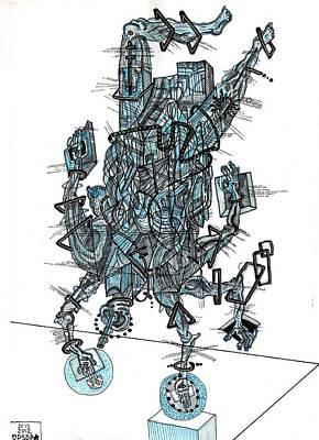 Praha Drawing - Transcendental Body by Denis Bronnikov