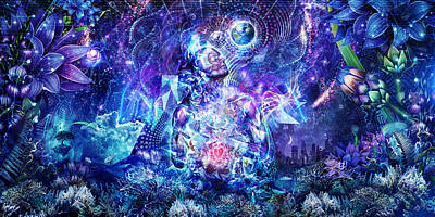 Ayahuasca Digital Art - Transcension by Cameron Gray