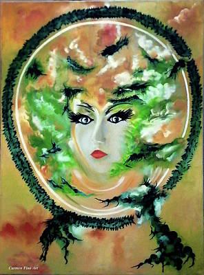 Portrait Art Painting - Transfigured Illumination by Carmen Fine Art