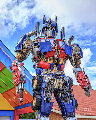 Transformers Optimus Prime Or Orion Pax Print by Edward Fielding