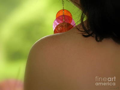 Dangle Earrings Photograph - Translucent Suspension by Linda Galok