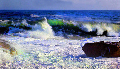 Incoming Tide Photograph - Transparent Wave by Frank Wilson