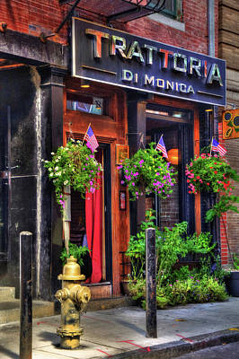 Trattoria Di Monica - North End - Boston Print by Joann Vitali