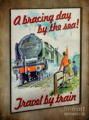 Travel By Train Print by Adrian Evans