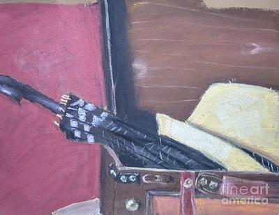 Umbrella Drawing - Traveling Again by Caffrey Fielding