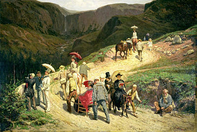 Painting - Travellers In Auvergne by Konstantin Savitsky