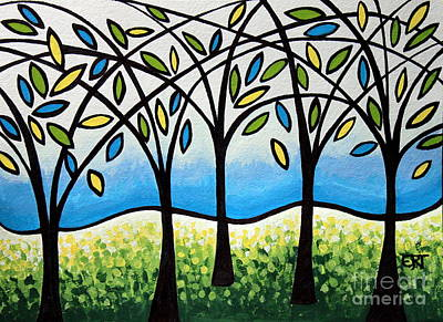 Landscape Painting - Traversing Trees by Elizabeth Robinette Tyndall