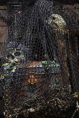 Skull Photograph - Treasure Chest In Net by Garry Gay
