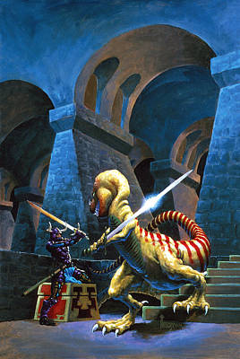 Knights Castle Painting - Treasure Maze by Richard Hescox