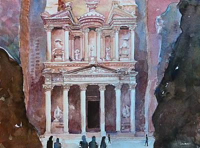 Treasury Building Petra Jordan Original by Arnel Sarmiento