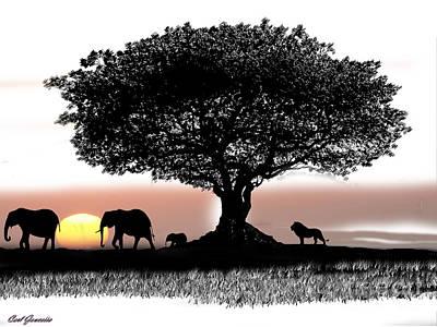 Tree Art Print by Carl Gouveia