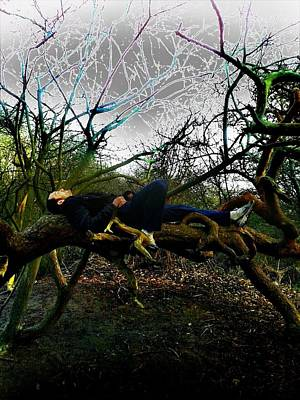 Epic Digital Art - Tree Chillin In A Zen Type Of Tranquility  by Marco De Mooy