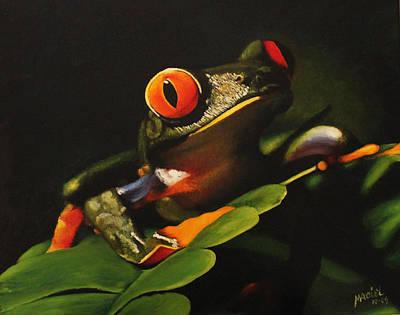 Tree Frog Print by Maciel Cantelmo
