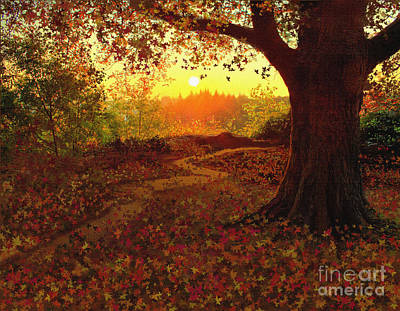 Tree Leaves Print by Robert Foster