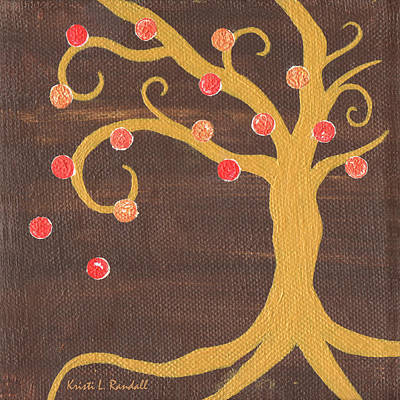 Recycled Painting - Tree Of Life - Right by Kristi L Randall
