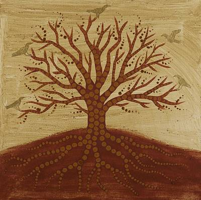 Tree Roots Painting - Tree Of Life 3 by Sophy White