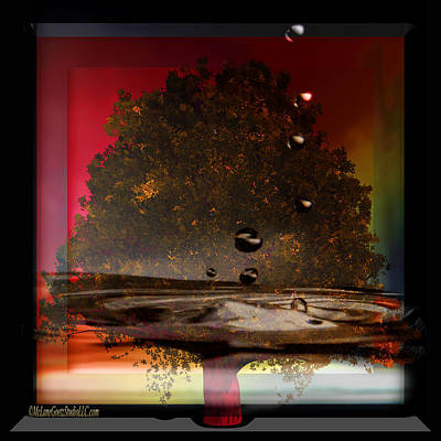 Drip Photograph - Tree Of Life Fountain Of Youth by LeeAnn McLaneGoetz McLaneGoetzStudioLLCcom