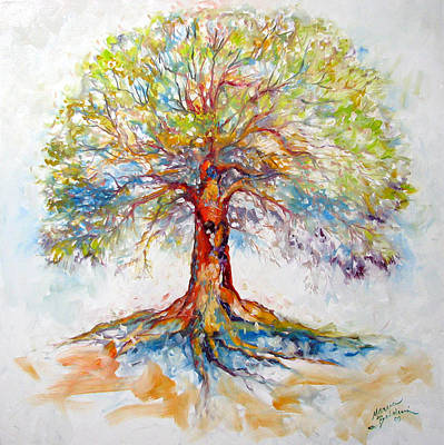 Tree Roots Painting - Tree Of Life Hope by Marcia Baldwin