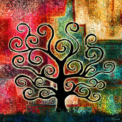 Large Painting - Tree Of Life by Jaison Cianelli