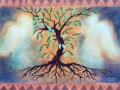 Mist Mixed Media - Tree Of Life by Kathy Braud