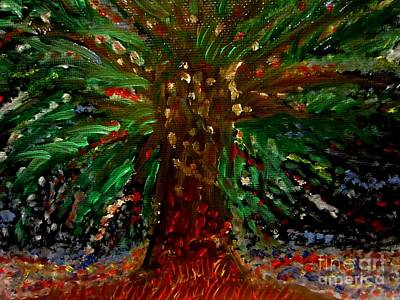 Oil Painting - Tree Of Life by Stephanie Zelaya