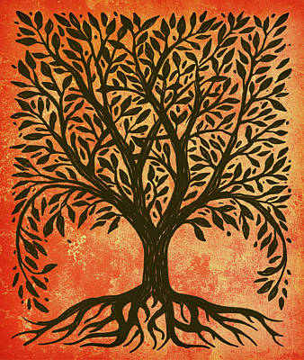 Celtic Tree Of Life Painting - Tree Of Life Warm by Little Bunny Sunshine