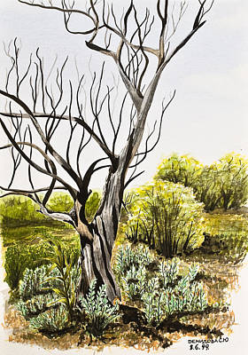 Tree Painting Print by Svetlana Sewell