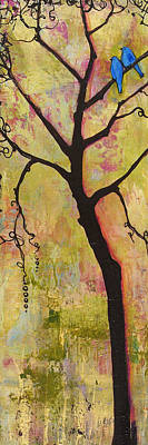 Calm Painting - Tree Print Triptych Section 1 by Blenda Studio