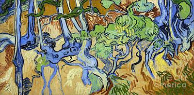 Tree Roots Print by Van Gogh