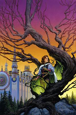 Tree Sorceress Print by Richard Hescox