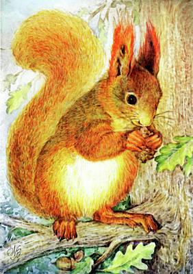 Tree Squirrel Print by Natalie Berman