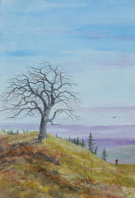 Tree Study With Red Shirt Original by Steve Mountz
