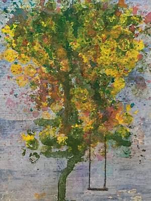 Swing Painting - Tree Swing by Jennifer Hoeft